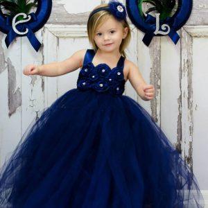 Модные темно-синие платья